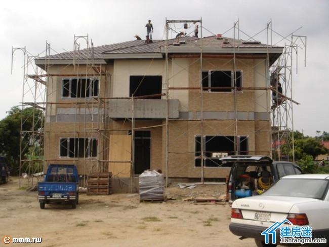 台湾轻钢结构住宅建造施工过程
