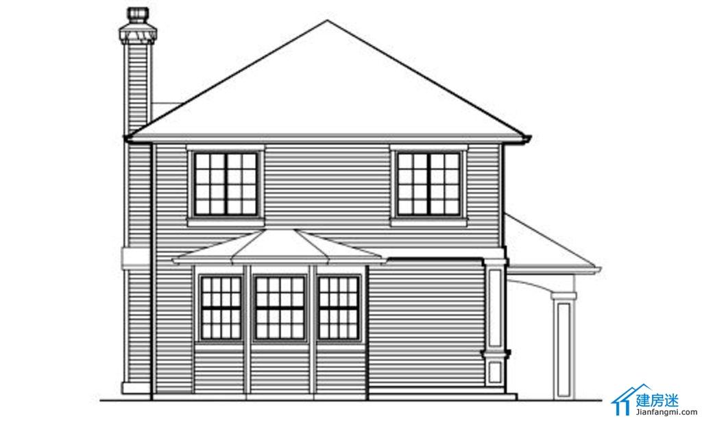 新农村房屋设计图参考,3卧室带车库设计方案,90平米3层