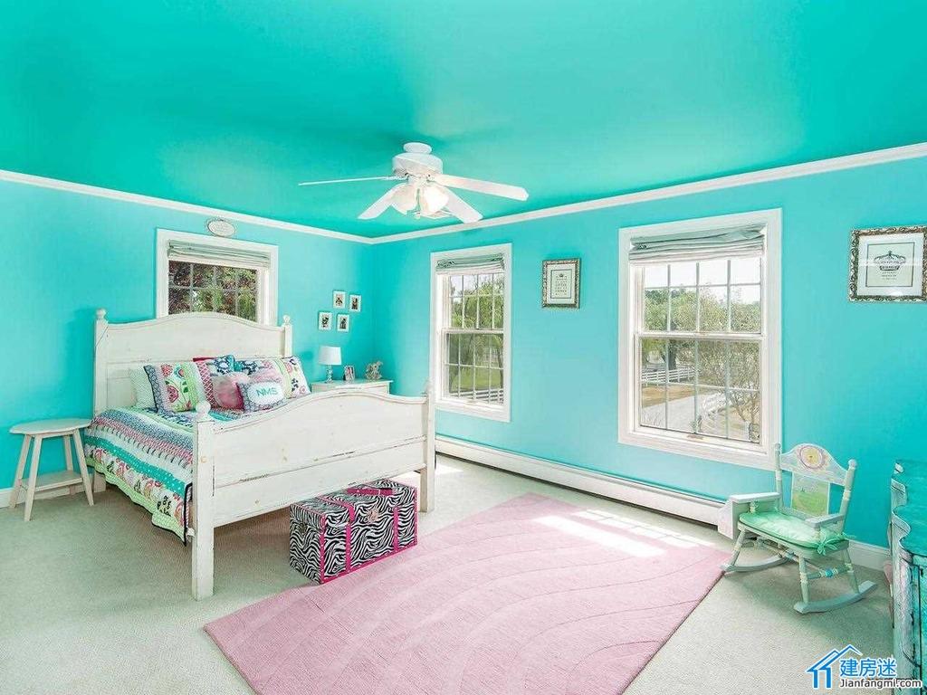 新农村自建房效果图参考之高低床设计,美式儿童房高低