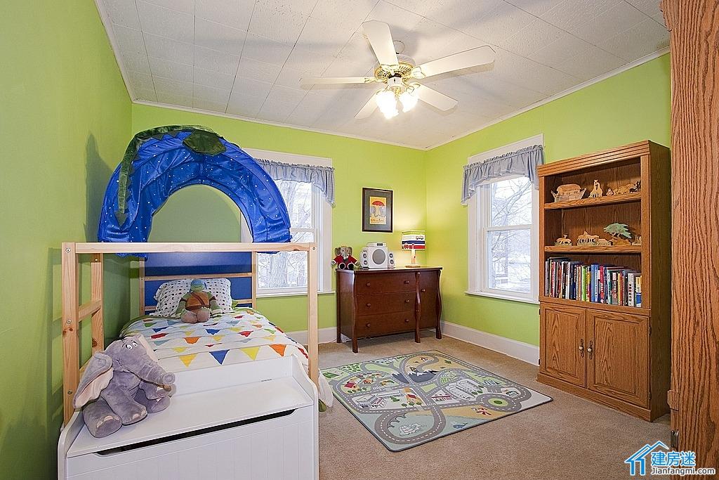 新农村自建房效果图参考之高低床设计,美式儿童房高低床设