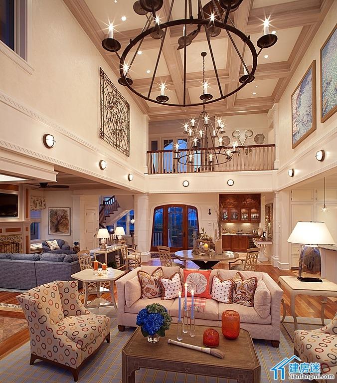 自建房挑高客厅装修效果图