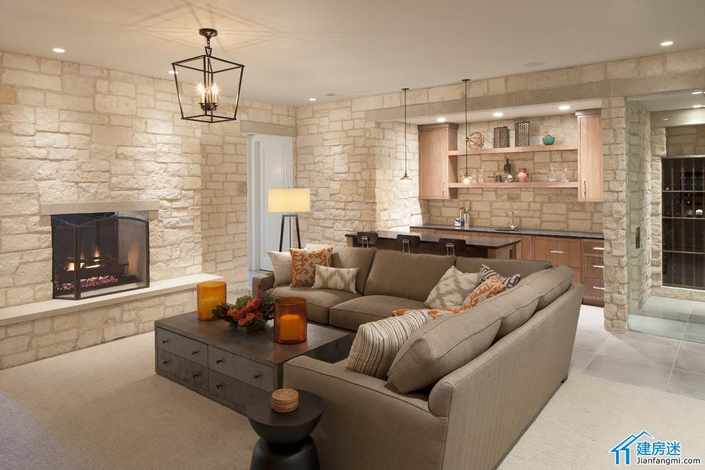 两层带地下室新农村自建房屋设计图,2014美式别墅设计效果图 高清图片