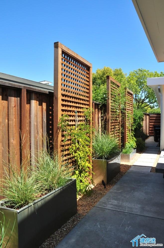 新农村自建房围墙绿化效果图
