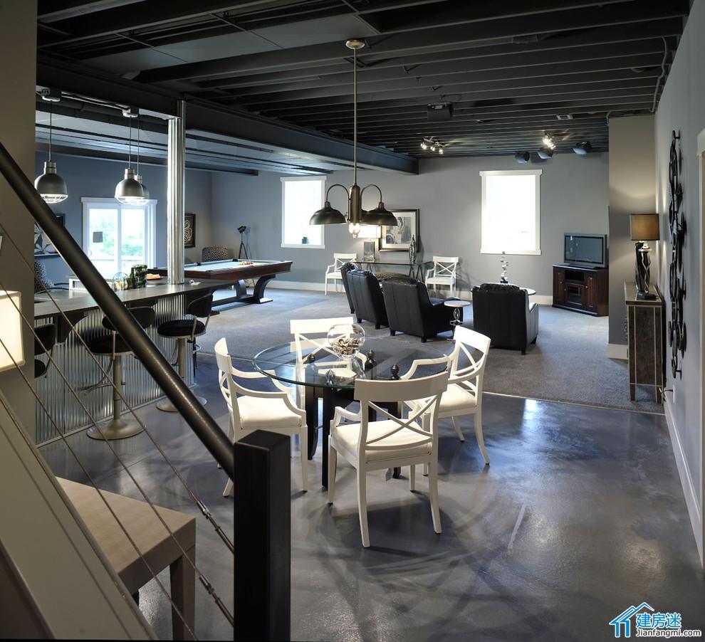 新农村自建房地下室装修效果图,别墅地下室装修都可以参考