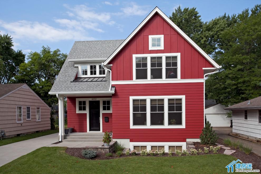 新农村自建房小户型房屋设计图,70平米左右占地面积,两层小别墅欣