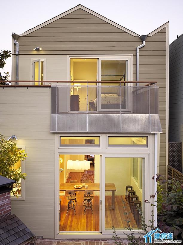 新农村自建房两大间三层双车库房屋设计图,小户型装修设计参考 建房