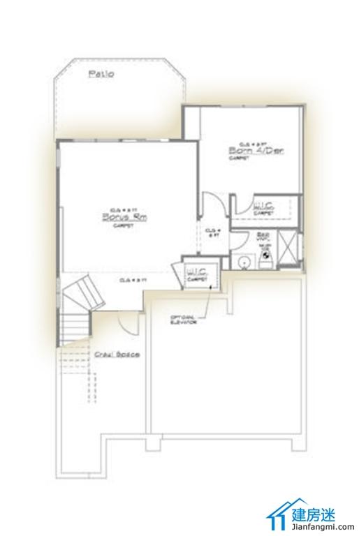 2014年新农村自建房设计图两层半120平米