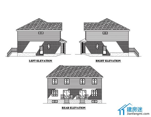 新农村自建房联排别墅设计图纸免费下载