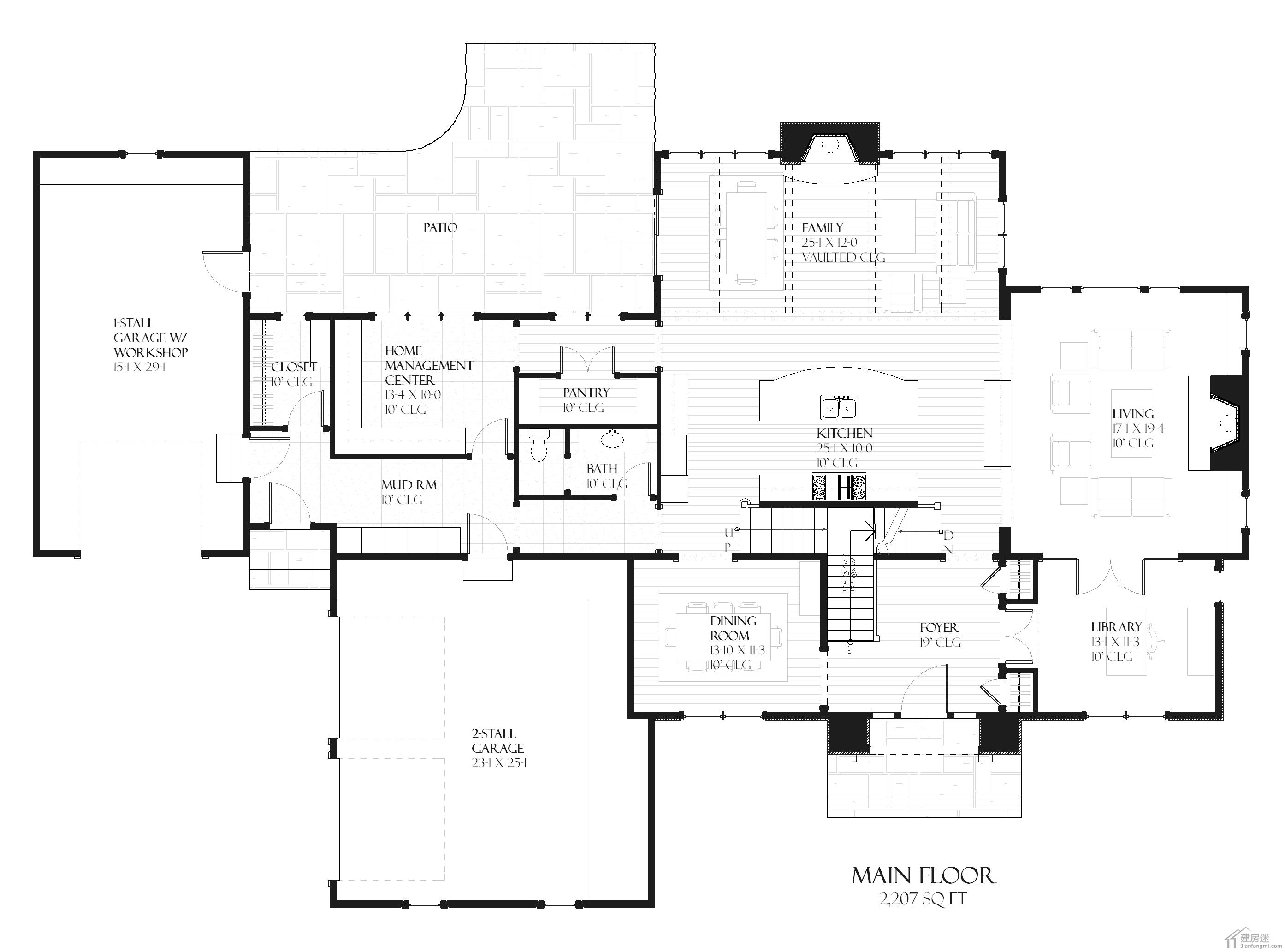 设计图 新农村/新农村自建房设计图500平米27米X18米两层半地下室还双车库...