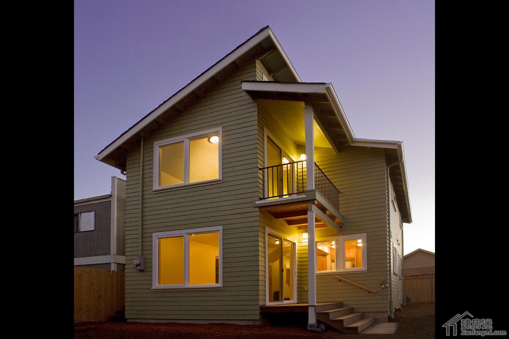 小户型新农村自建房屋设计图免费下载10米x6米两层60平米