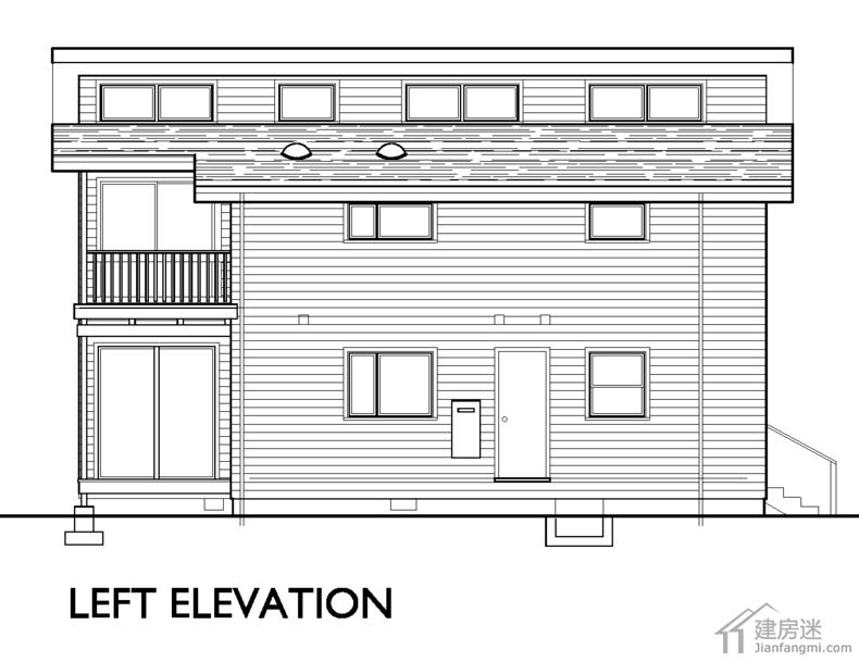 户型新农村自建房屋设计图免费下载10米X6米两层60平米