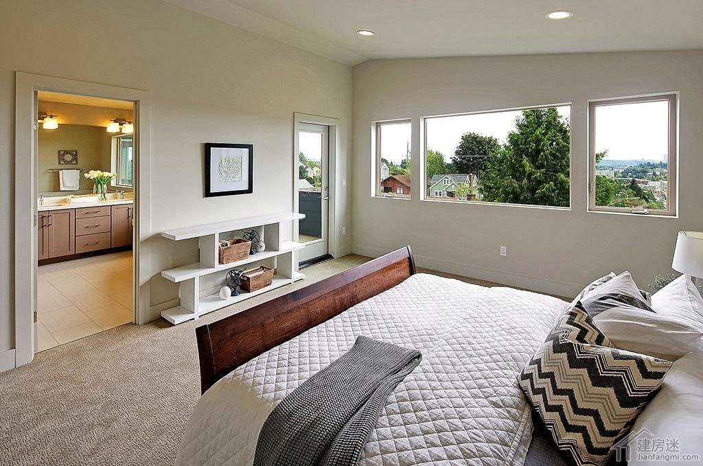 新农村自建房三层带车库270平米美式风格别墅效果图免费下载