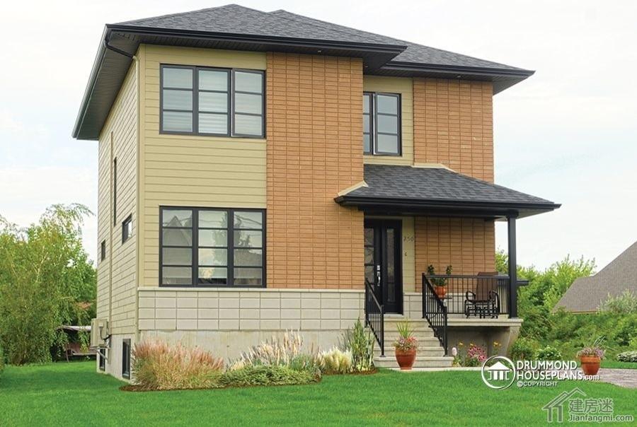 两层7米x10米农村自建钢框架房屋设计图参考70平米小户型