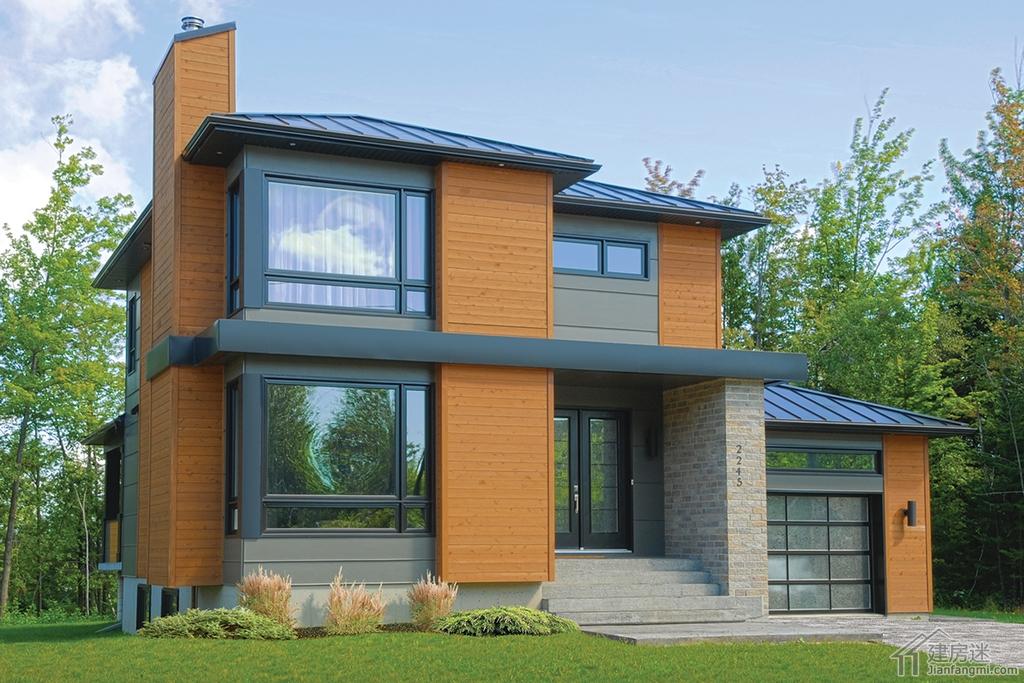 农村盖房图纸12米X10米两间三层120平米带车库轻钢别墅图纸