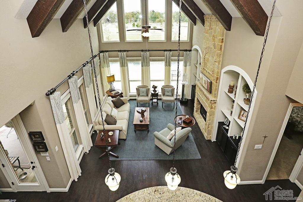 美式別墅設計欣賞之330平米兩層帶游泳池農村土豪