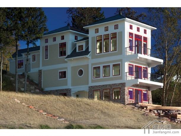 6米x24米狭长地基农村自建房设计图适合海边360度