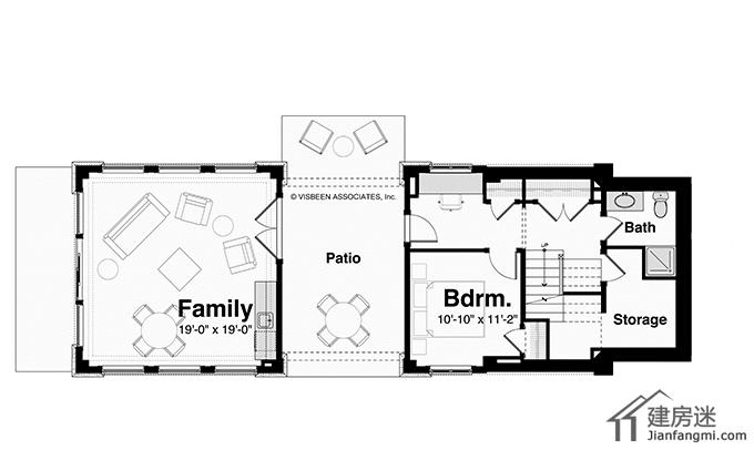 农村的地基各种各样,其中比较多的就是狭长的地形,今天建房迷给大家推荐一个狭长的自建房户型设计图。 设计师的的初衷就是满足海景房的建造而设计,因为外观上有点类似一艘船,并且四面开窗,拥有360度景观。 整个房子建筑面积有270平米,拥有三个卧室,三个卫生间。 下面我们通过一些细节图来了解这套户型 先是外观图-6米X24米狭长地基农村自建房设计图适合海边360度全景度假屋的设计      同样可以采用不同的窗户颜色    下面是室内部分的照片          平面图-6米X24米狭长地基农村自建房设计图适合