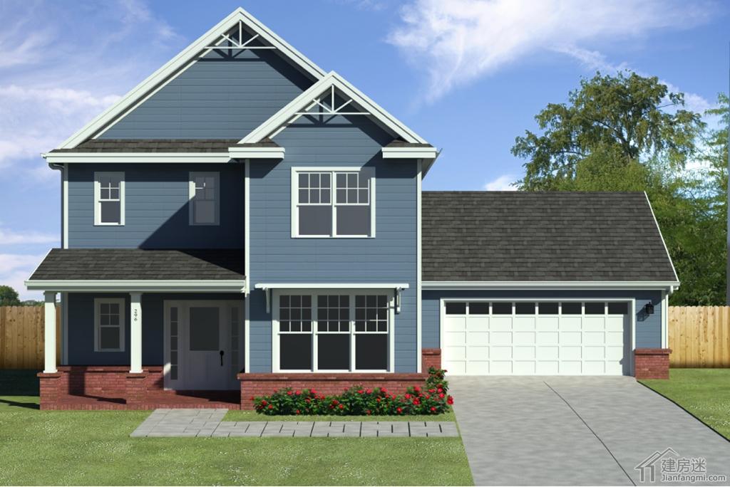 200平米自建房轻钢别墅两层房屋设计图免费下载