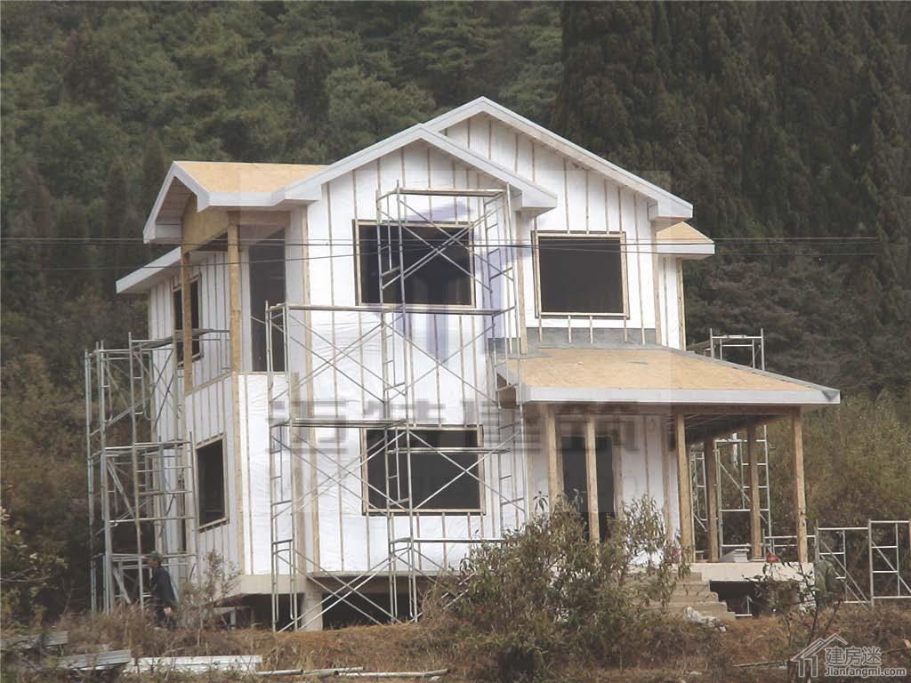 云南度假村轻钢别墅安装建造过程欣赏-迈特轻钢别墅