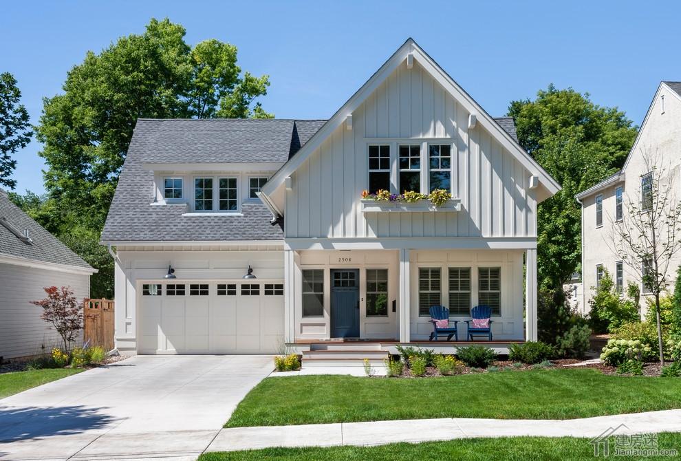 平米小户型两层农村自建房别墅效果图适合轻钢轻木建造
