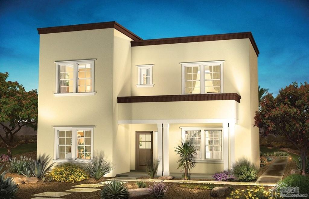 200平米墨西哥风格农村自建房屋设计图两层轻钢结构设计图