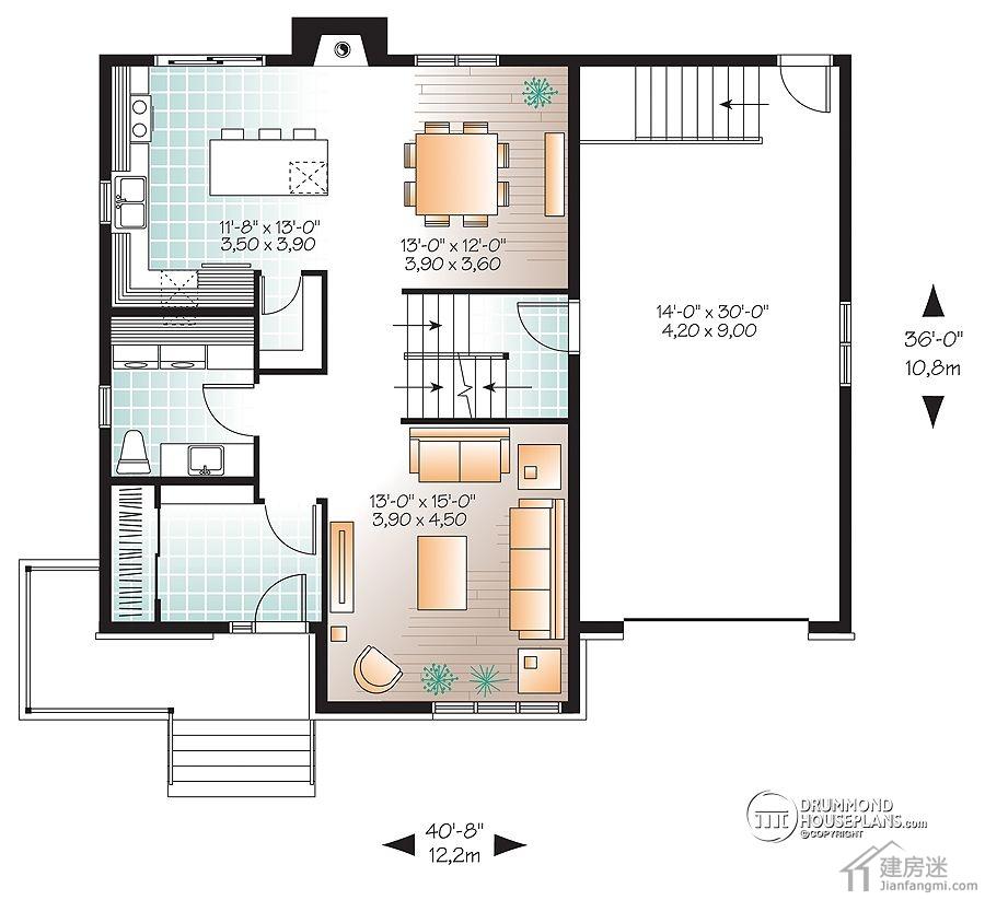 米X10米自建房屋设计图120平米两层三大间媲美新农村住宅图集精选