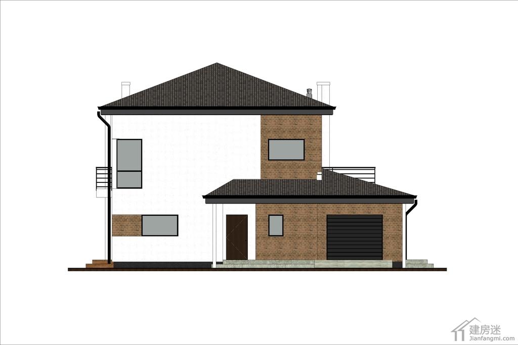80平米两层新农村自建房日式风格小别墅设计图轻钢结构设计参考