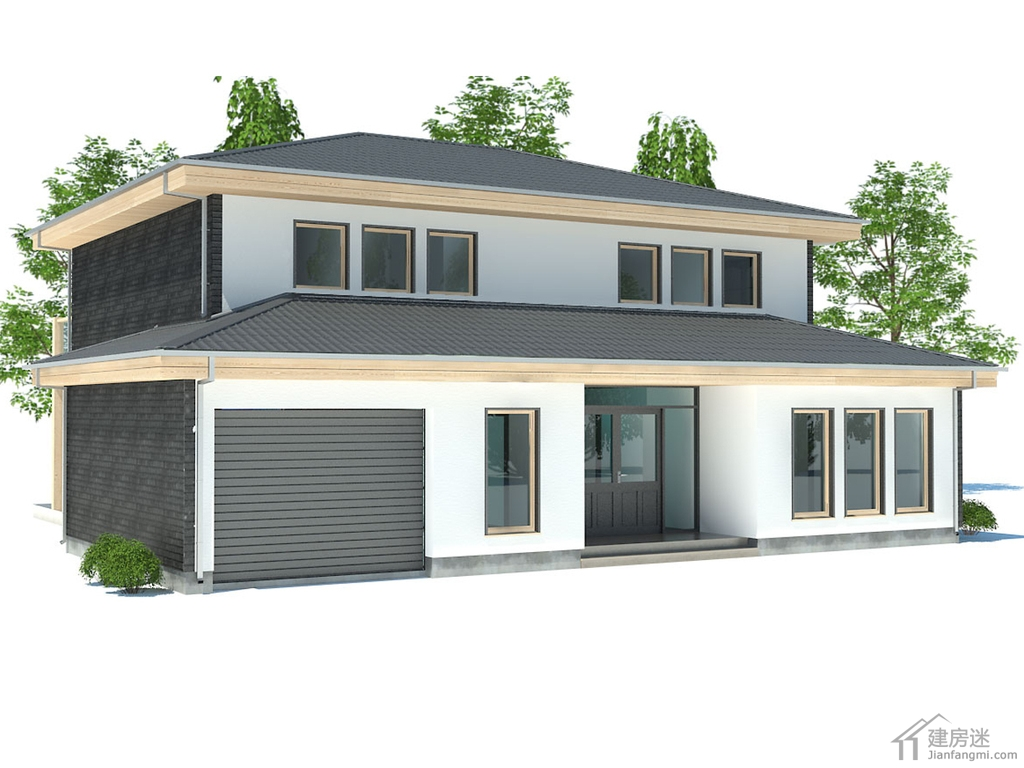 13米新农村自建房设计图190平米三大间两层别墅设计参考 建房迷