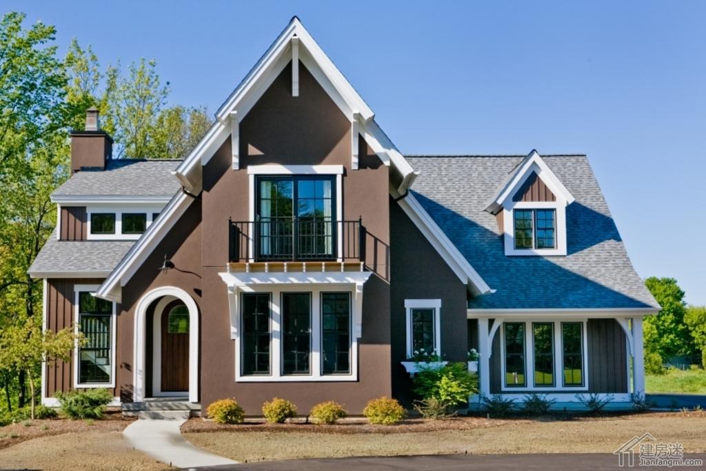 新农村自建房美式风格别墅设计图纸16米X20米两层三大间参考