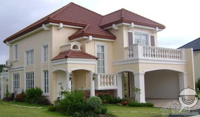 农村自建房两层10米x12米120平米别墅户型平面图和效果图