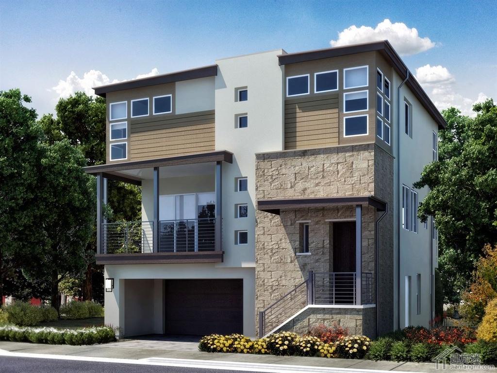 新农村自建房三层地基70平米左右8米x9米轻钢结构自