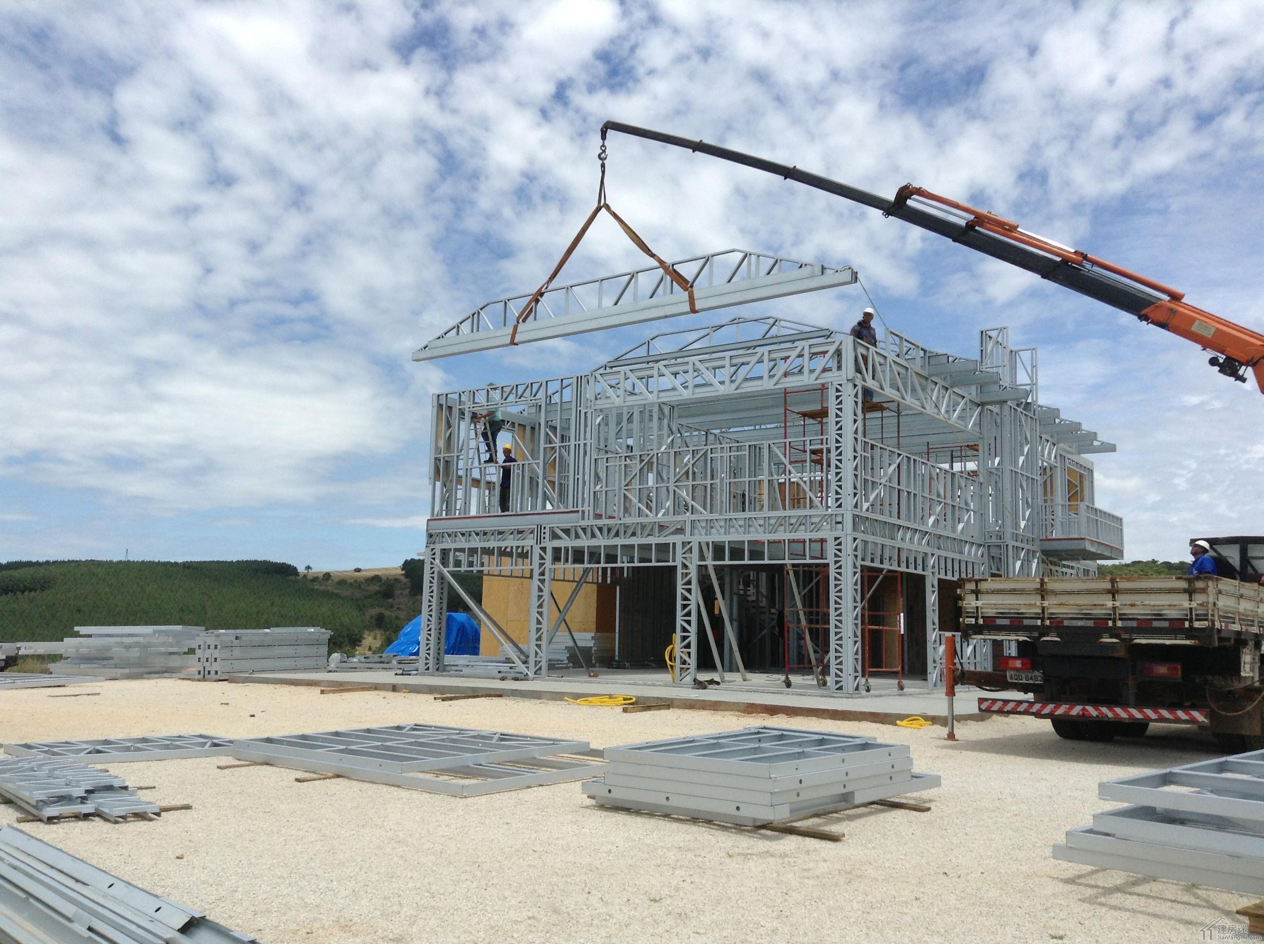 图文介绍轻钢结构别墅建造施工九个步骤