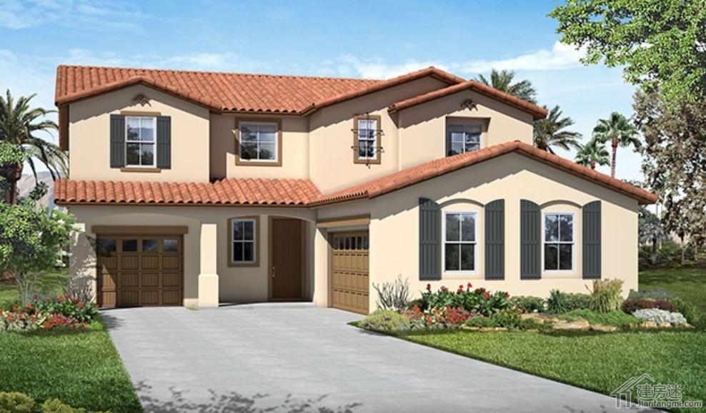 新农村二层房屋设计图美式风格150平米建房参考