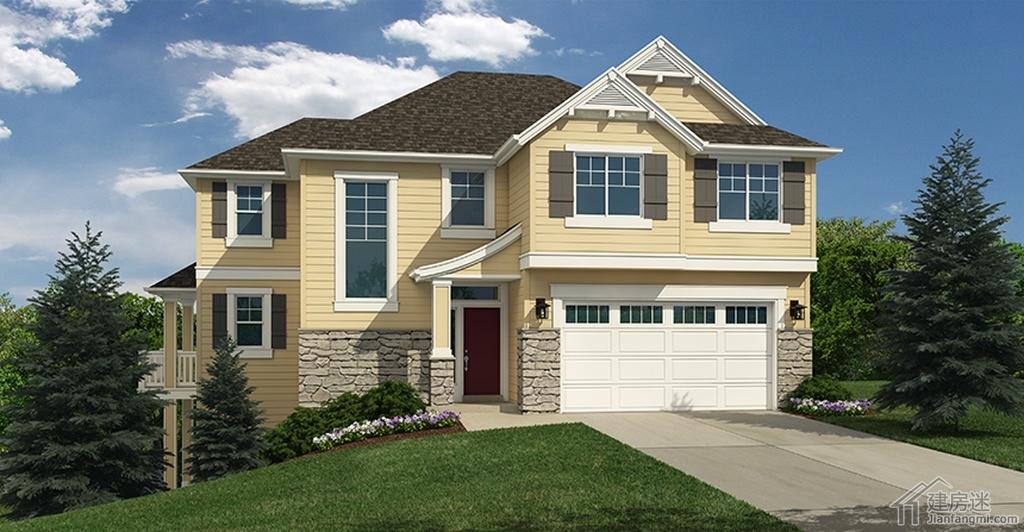 新农村自建房架空两层10米x12米120平米轻钢结构别墅