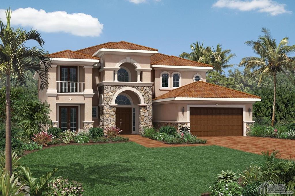 豪级别农村自建房屋设计图200平米地基两层豪华别墅设计图