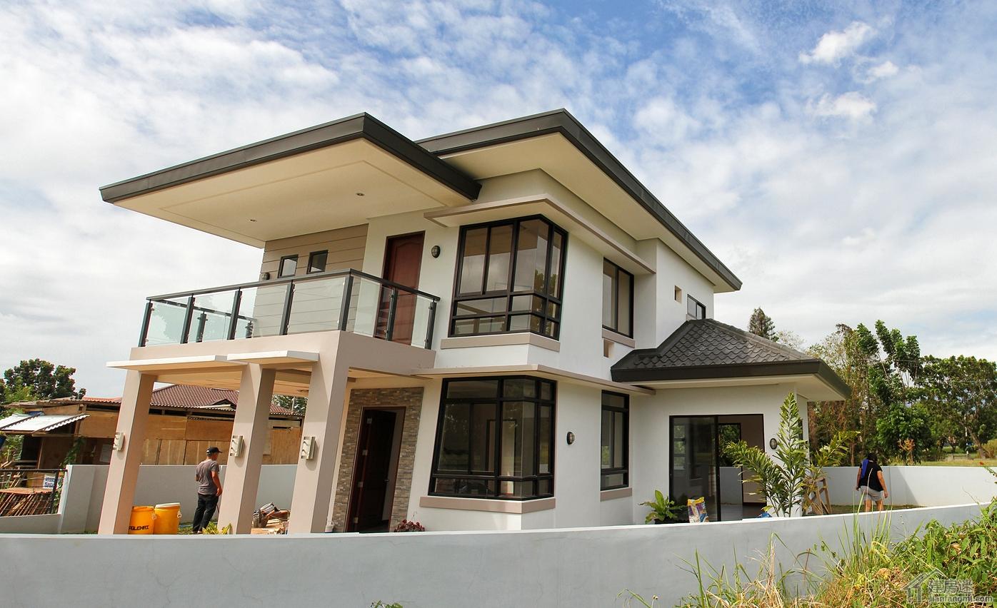 新农村自建房两层10米x10米东南亚风格广东福建沿海自建别墅设计图