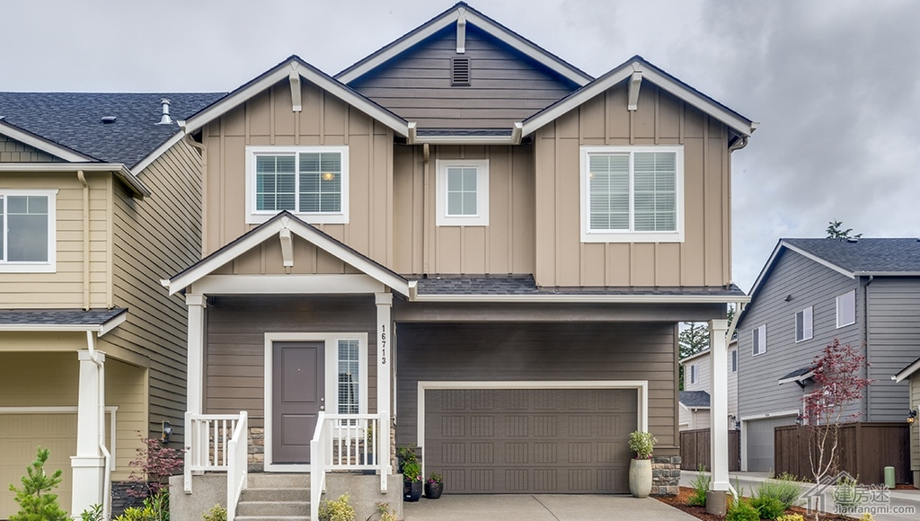 两层农村房子设计图7米X10米小户型70平米临街两边不采光盖房图片