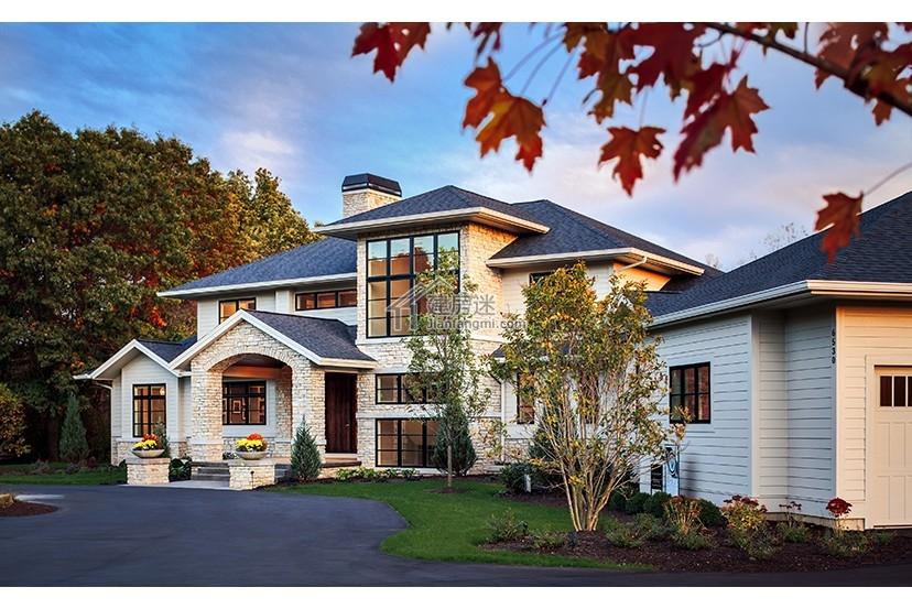 农村土豪自建房40米x30米地基两层带地下室房屋设计