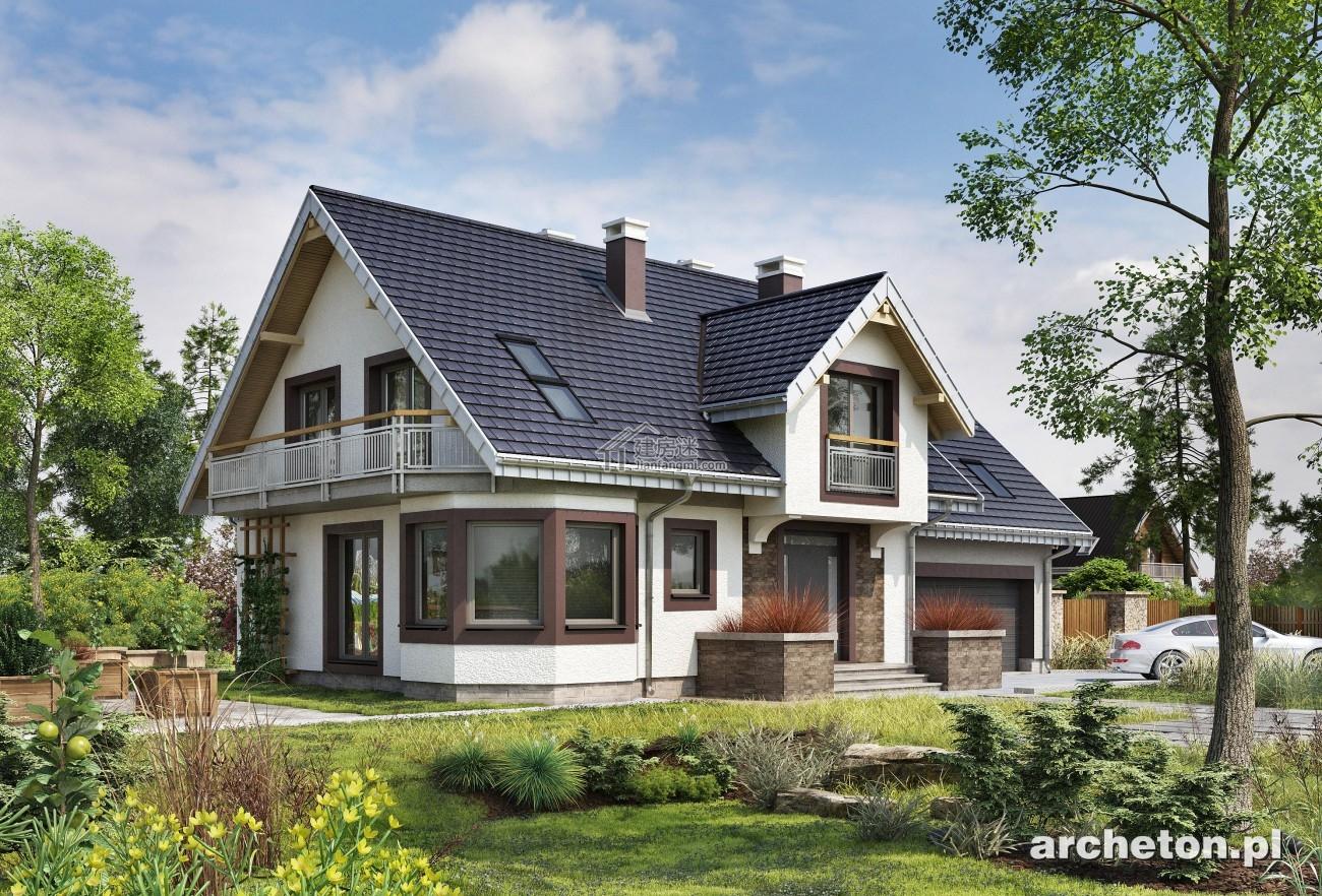 农村自建房设计图16米x11米两层欧式风格经济型别墅图纸