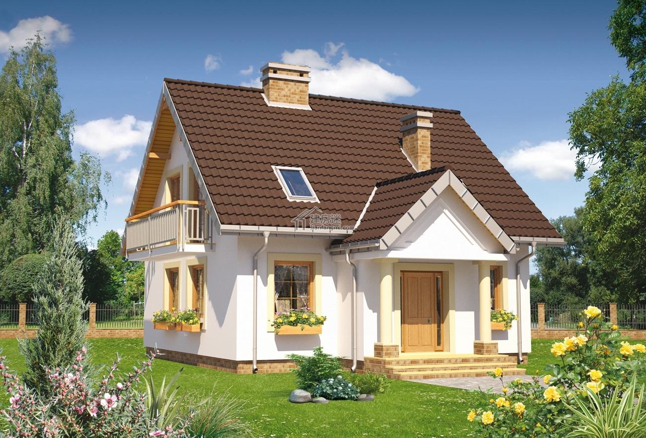 农村度假别墅设计图9米x9米二层80平米小户型简单盖房