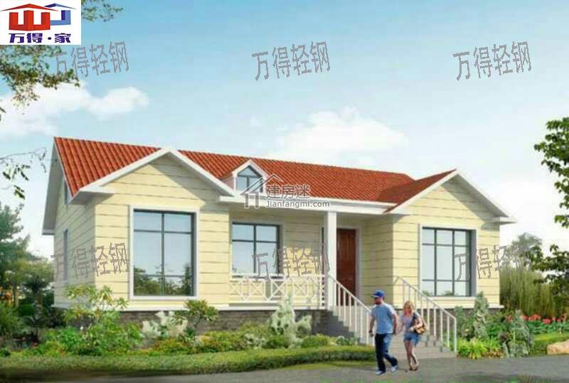 轻钢别墅由甘肃万得承建,轻钢结构主体,装饰装修,地面屋面,电气电路