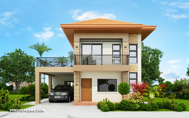 Double Story House plan Designed To Be Build In 134 Square Meters - Myhouseplanshop.jpg