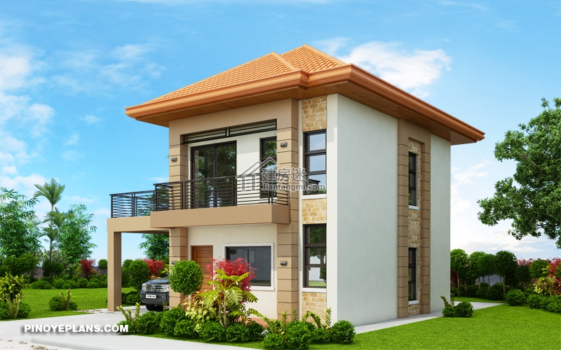 Double Story House plan Designed To Be Build In 134 Square Meters1 - Myhouseplanshop.jpg