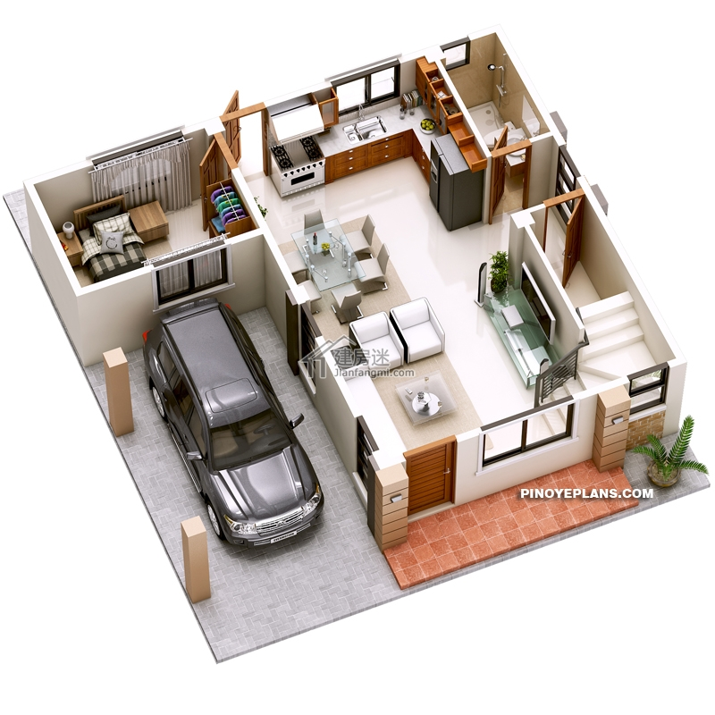 Double Story House plan Designed To Be Build In 134 Square Meters2 - Myhouseplanshop.jpg