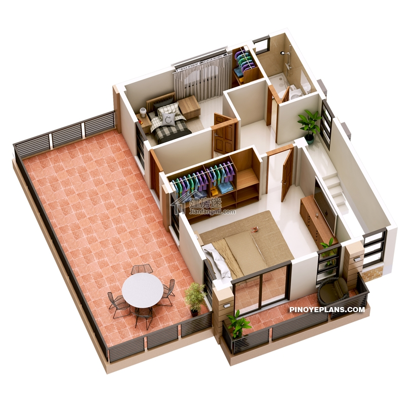 Double Story House plan Designed To Be Build In 134 Square Meters3 - Myhouseplanshop.jpg