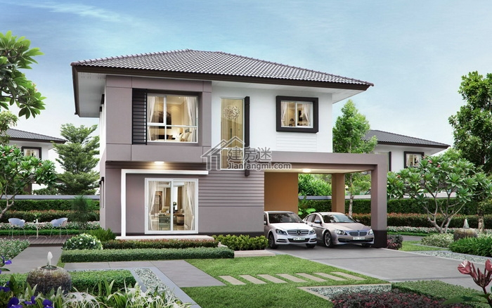建房迷农村自建房10米x10米100平米两层小户型别墅设计图