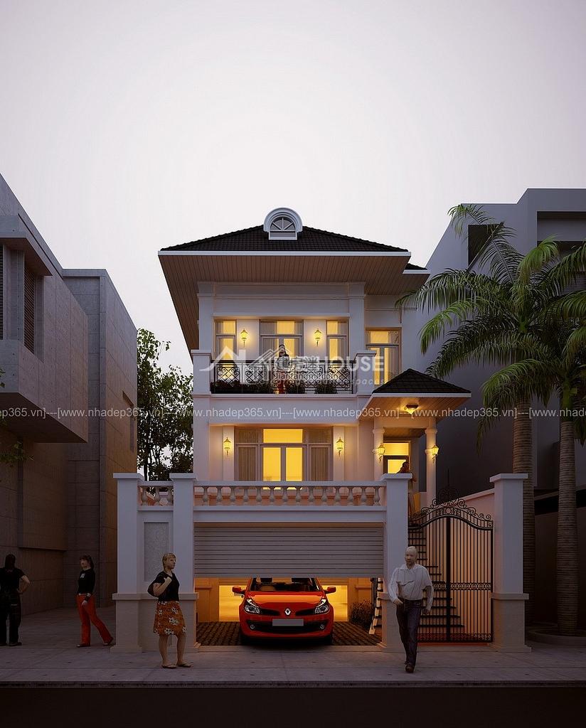 6米x24米狭长地基农村自建房设计图适合海边360度全景